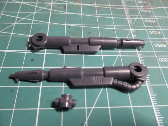 合わせ目をモールド化したいゲルググキャノンのキャノン砲パーツ画像1