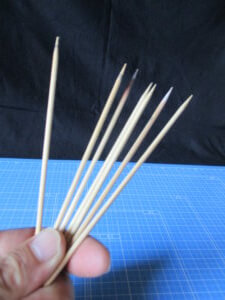 筆者所有の竹串の画像