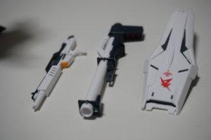 RG・νガンダムの武器(ビームライフル、バズーカ、盾)