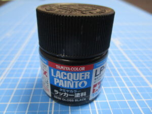 筆者所有のタミヤのラッカー塗料の画像