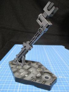 バンダイ1/144アクションベースを塗装して完成させた画像