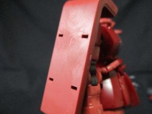 1/144HGザクⅡ赤い彗星Verザクシールド